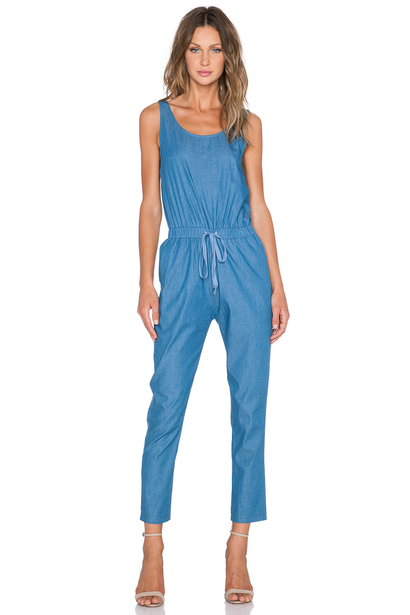 BLQ BASIQ Chambray Scoop Neck Jumpsuit