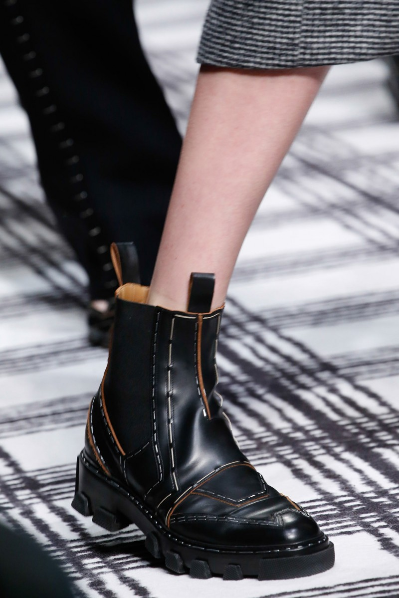 Balenciaga Stapled Leather Chelsea Boot