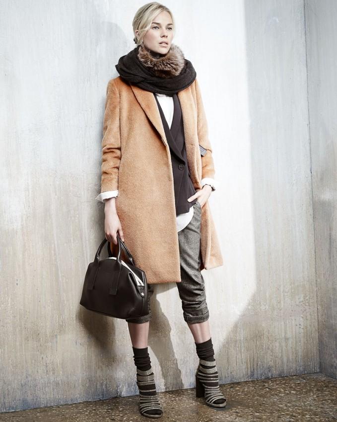 Brunello Cucinelli AlpacaWool Monili-Snap Long Coat