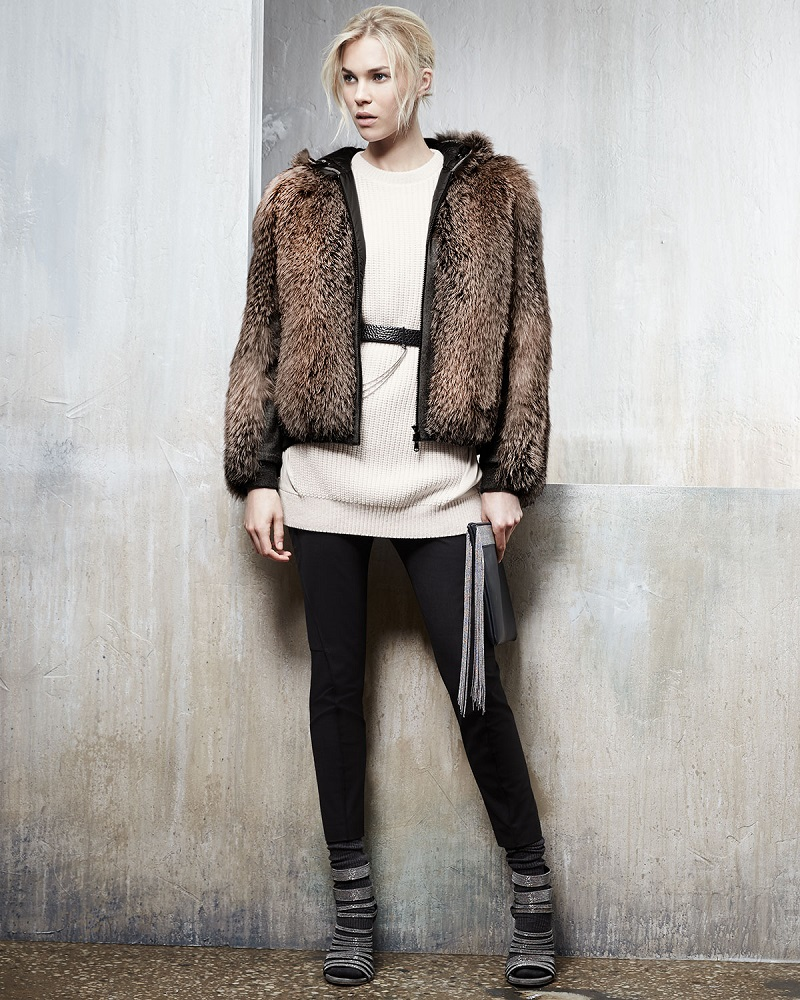 Brunello Cucinelli Fox Fur & Wool-Blend Coat