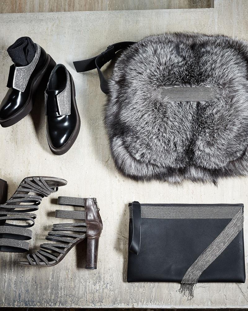 Brunello Cucinelli Leather Strappy Monili Sandal