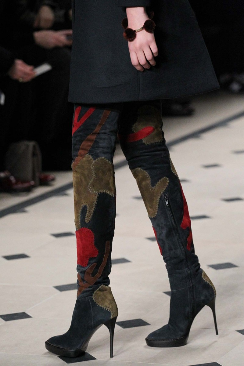 Burberry Allison Over-the-Knee Patchwork Boot