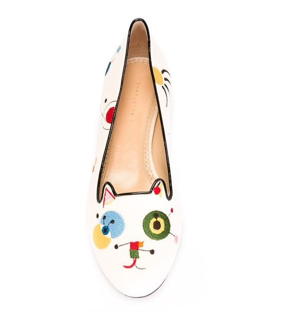 Charlotte Olympia Abstract Kitty slippers