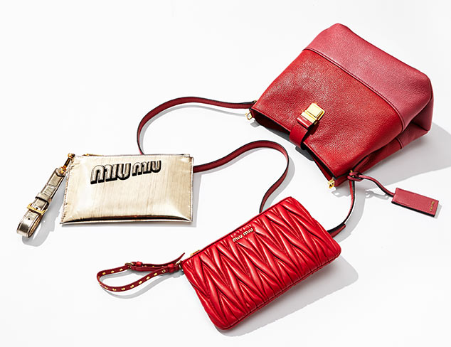 Designer Handbags feat. Miu Miu at MYHABIT