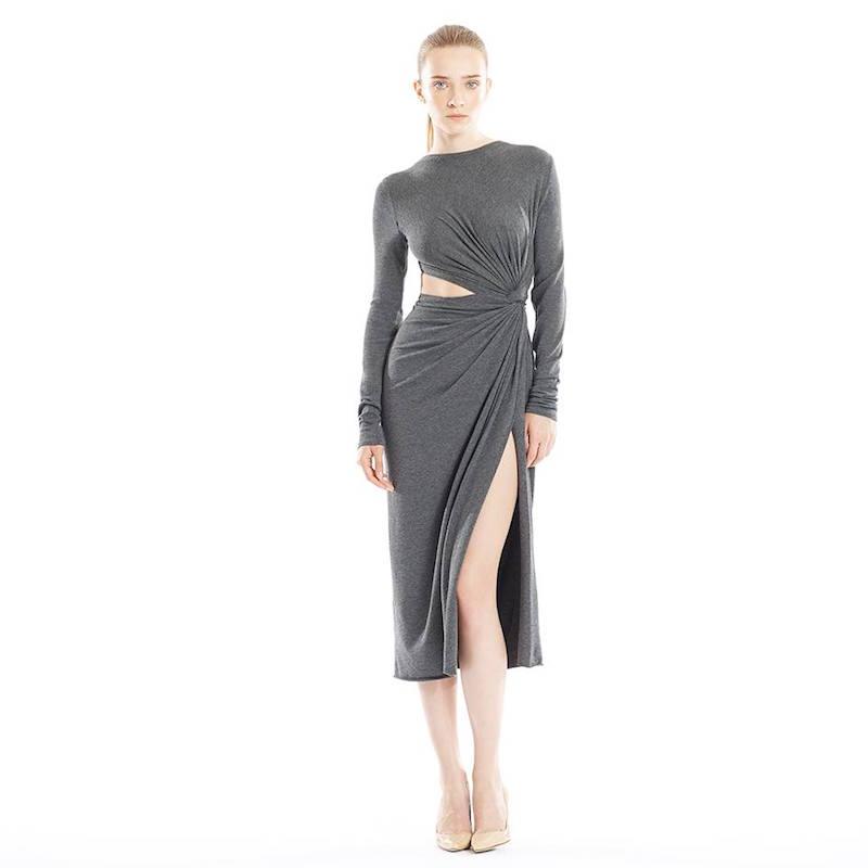 Donna Karan Jersey Twist-Knot Dress