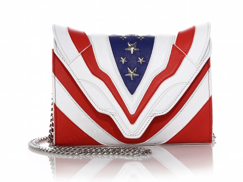Elena Ghisellini Felina Mignon Stars & Stripes Leather Shoulder Bag