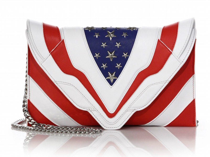Elena Ghisellini Selina Medium Stars & Stripes Leather Shoulder Bag
