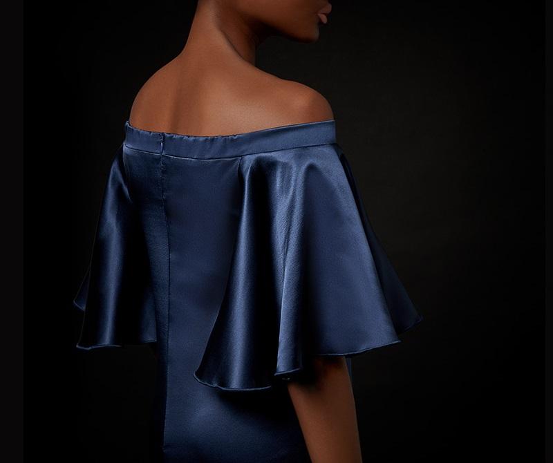 Ellery Maddox off-the-shoulder dress