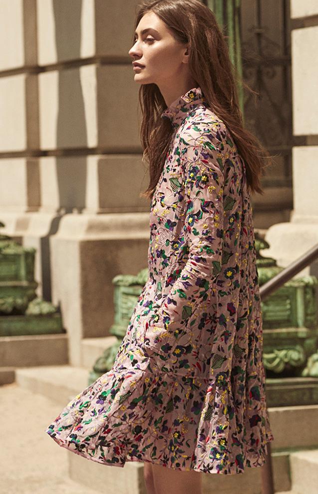 Erdem Cosima Embroidered Silk Organza Trapeze Dress-