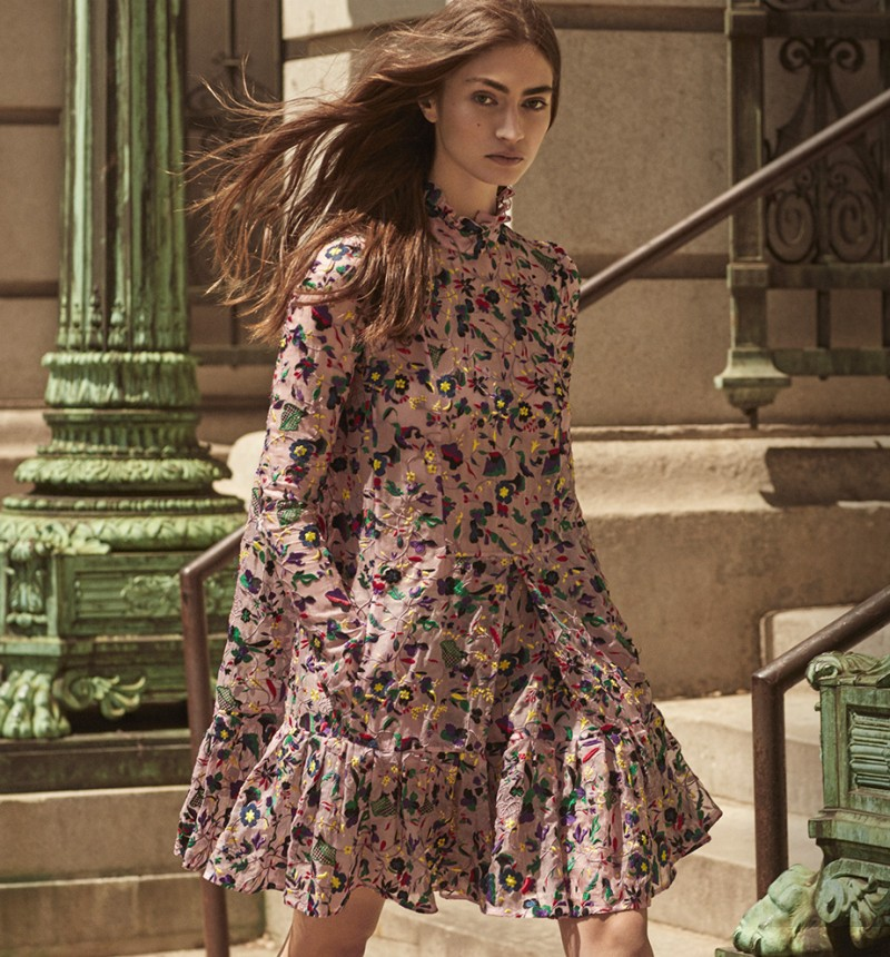 Erdem Cosima Embroidered Silk Organza Trapeze Dress