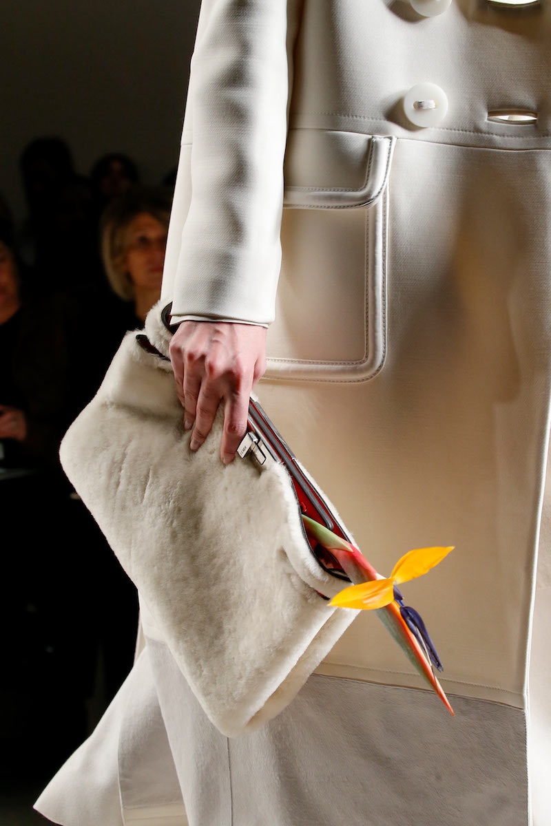 Fendi Peekaboo Shearling Fur Clutch Bag