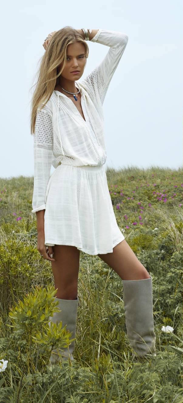 Free People Nomad Peasant Dress