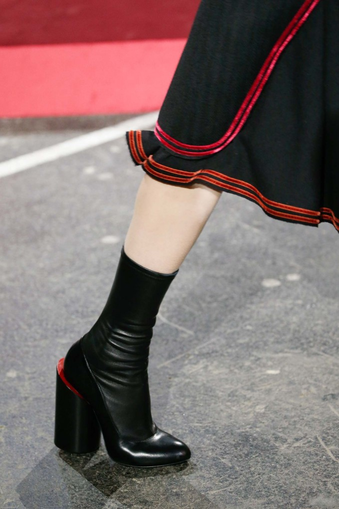 Givenchy Leather Wide-Heel Show Boot