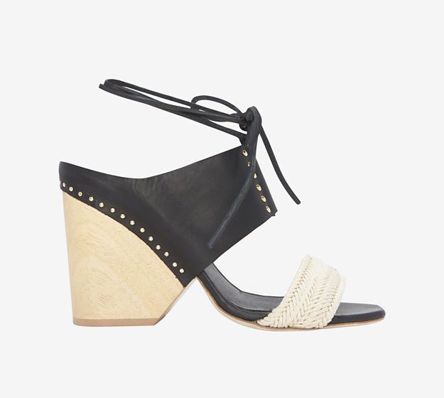 INTERMIX EXCLUSIVE Thakoon Wooden Heel Leather Sandal