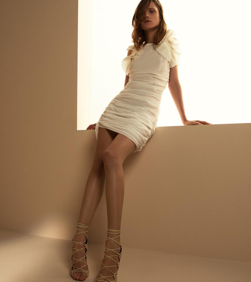 Isabel Marant Ruched Gauze Geeny Dress