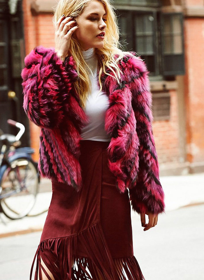 J. Mendel Dyed Fox Fur Jacket