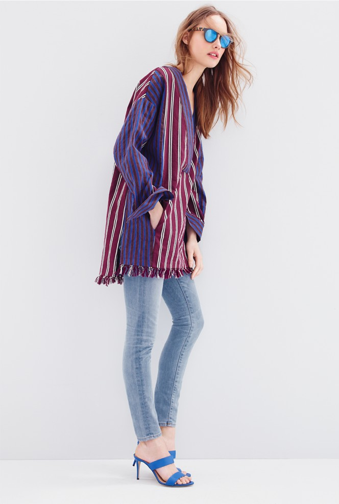 J.Crew Collection striped popover jacket
