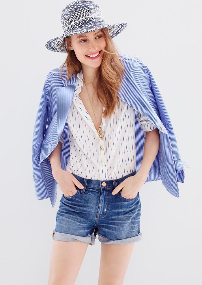 J.Crew Deconstructed shirt blazer