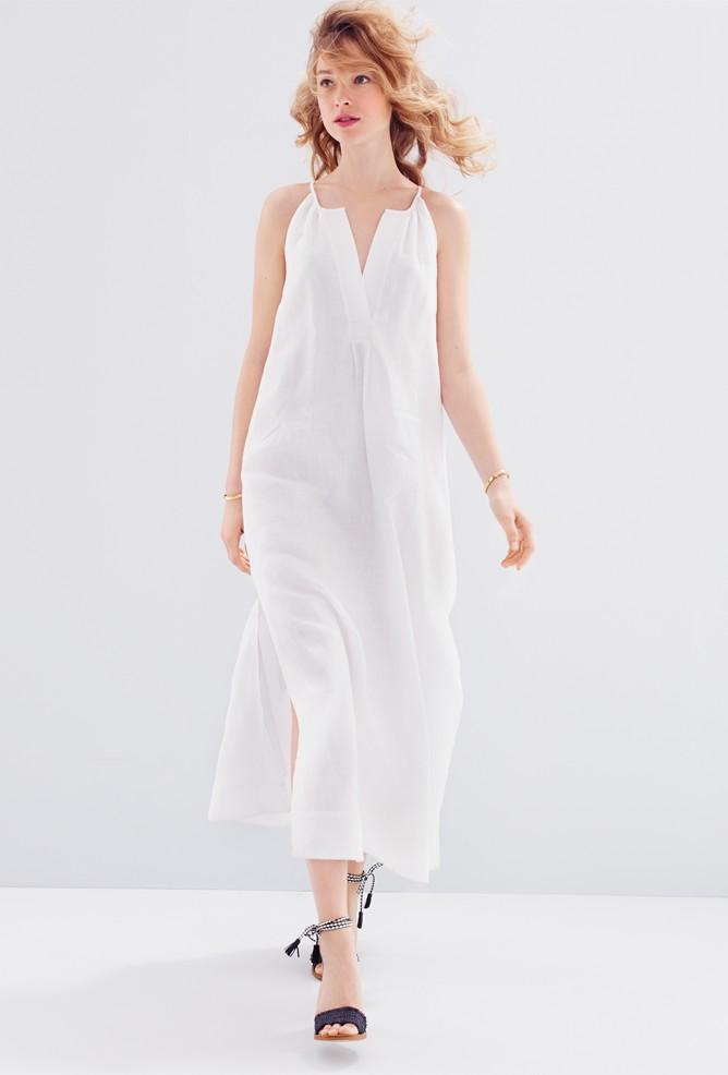 J.Crew Linen halter maxi dress