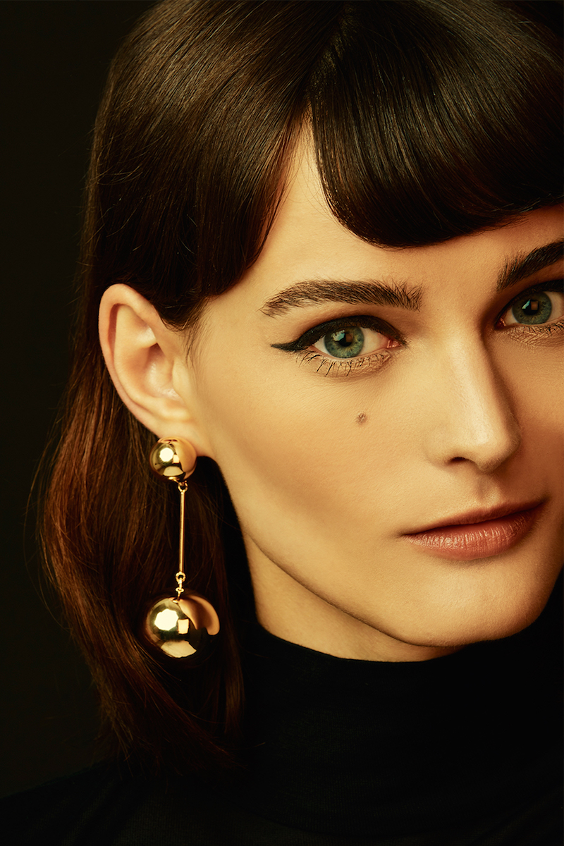 J.W. Anderson Gold Sphere Drop Earrings