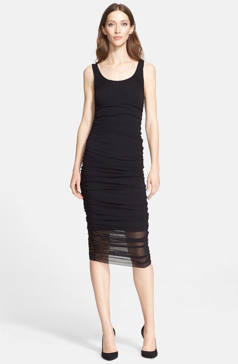 Jean Paul Gaultier Ruched Tulle Tank Dress