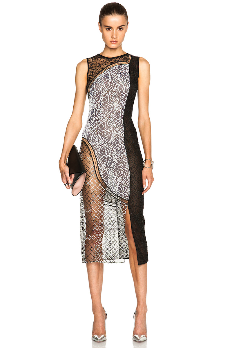 Jonathan Simkhai Wire Lace Curve Dress