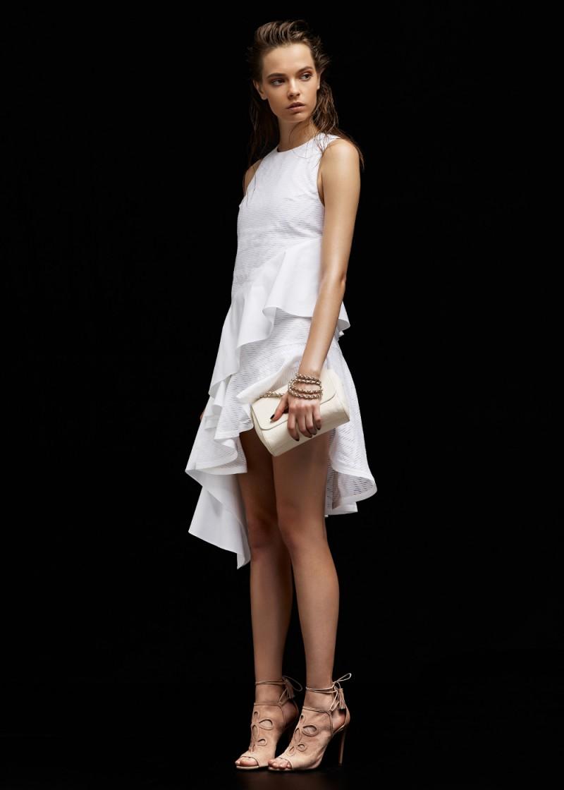 KENZO Maze Jacquard Tiered Poplin Dress