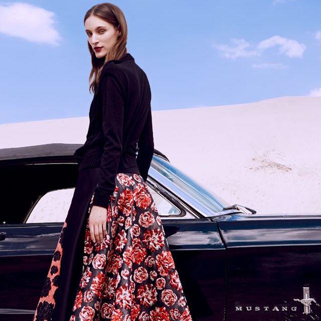 Lanvin Floral Jacquard Skirt