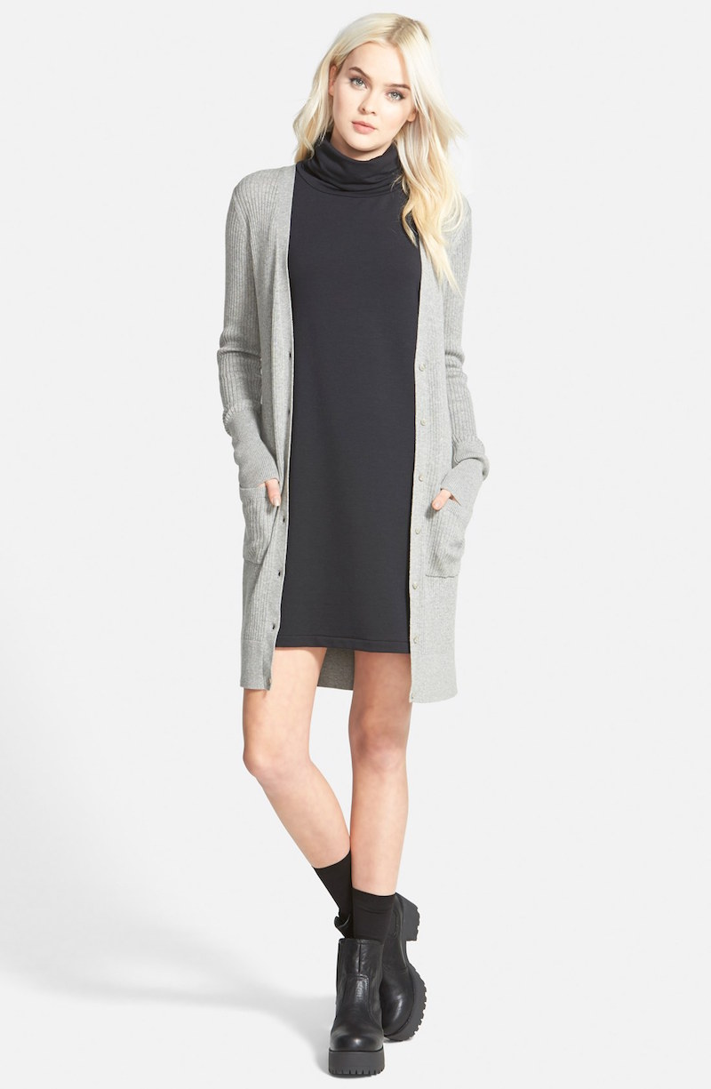 Leith A-Line Turtleneck Dress