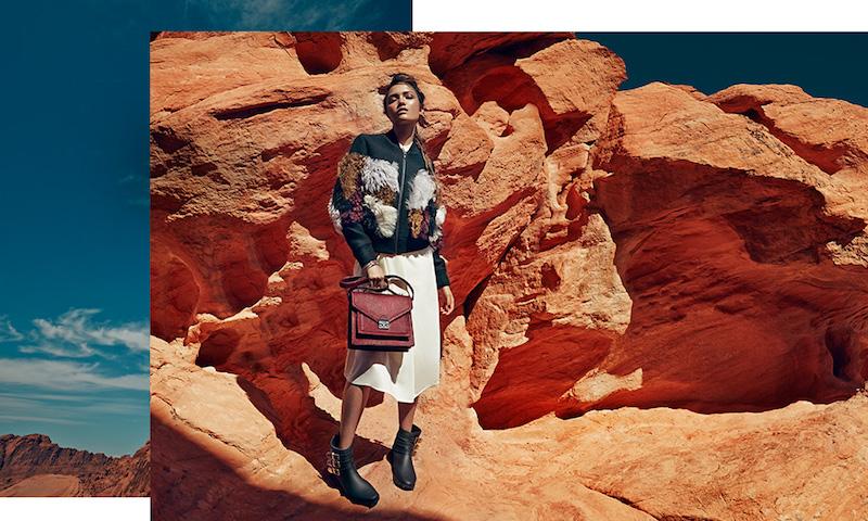 Loeffler Randall Wool & Fur Colorblock Jacket