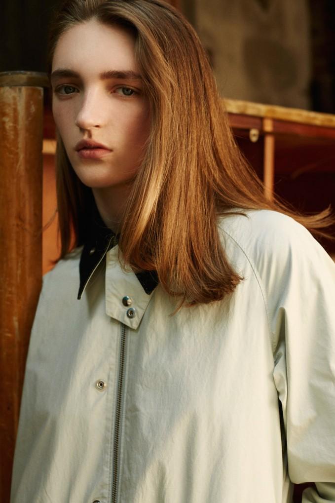 MM6 Maison Margiela Pale Grey Coated Cotton Coat