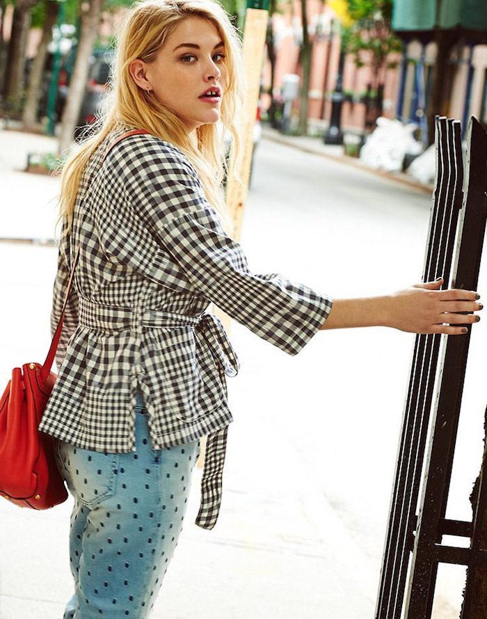 Madewell Gingham Kimono Jacket