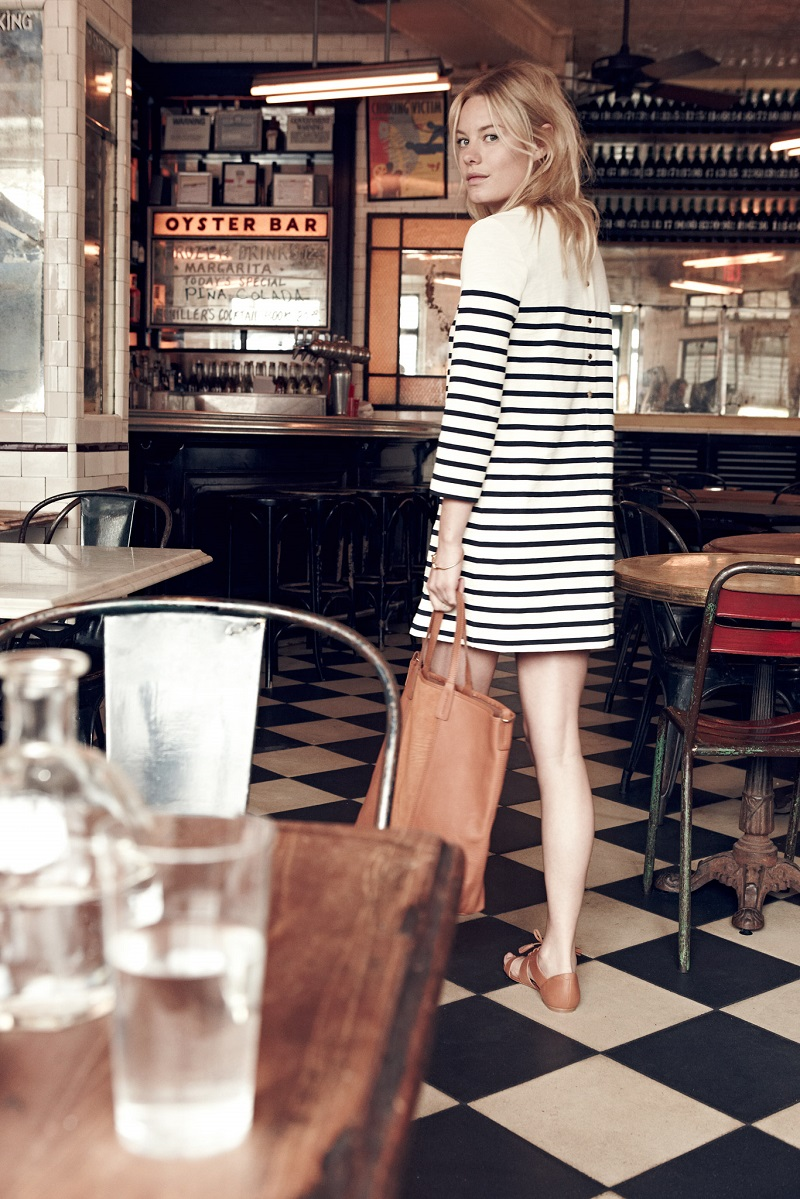 Madewell et Sézane® striped knit dress