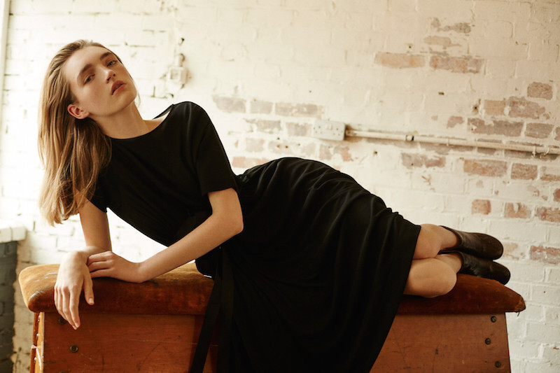 Maison Margiela Black Belted Trapeze Dress