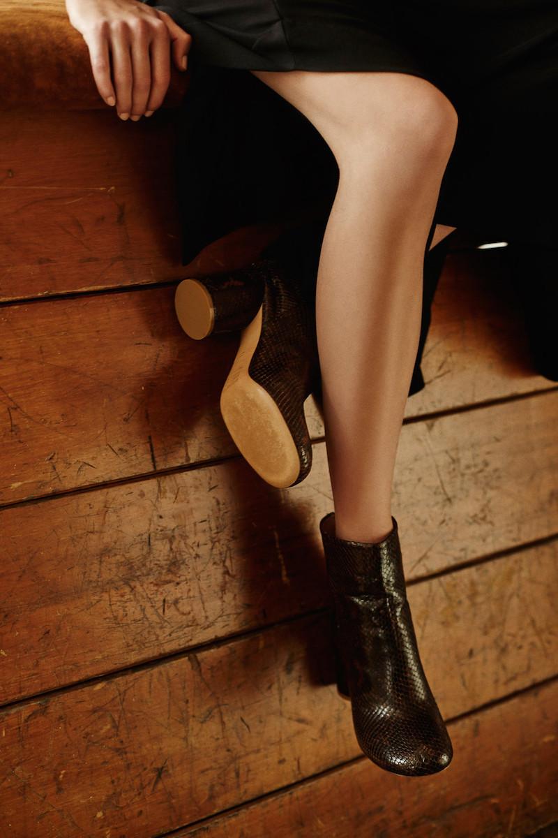 Maison Margiela Brown Snakeskin Ankle Boots