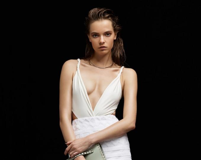Mara Hoffman Front Twist Swimsuit