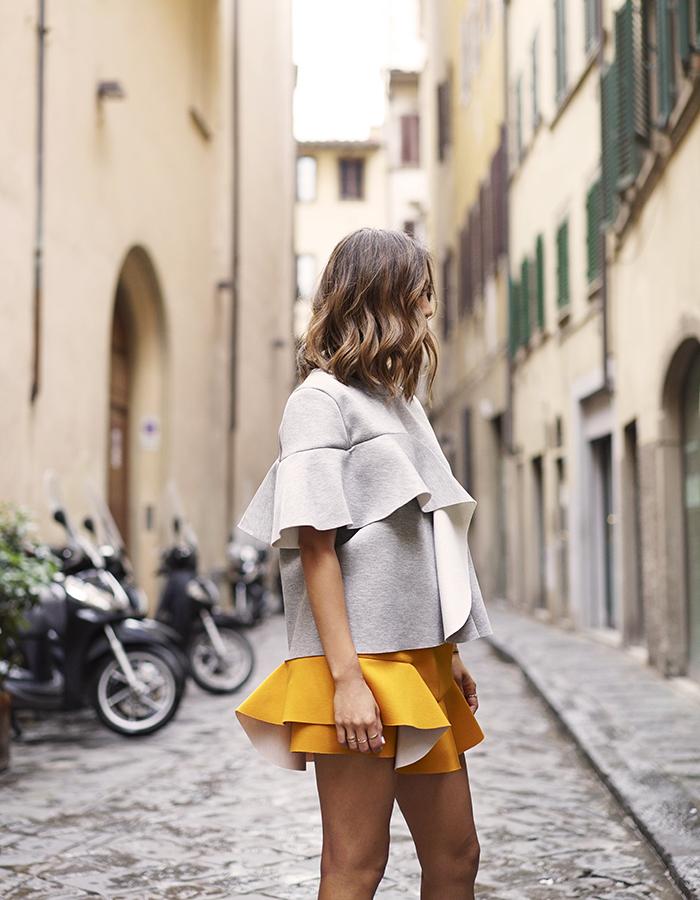 Marni Ruffled Bonded Jersey Skirt