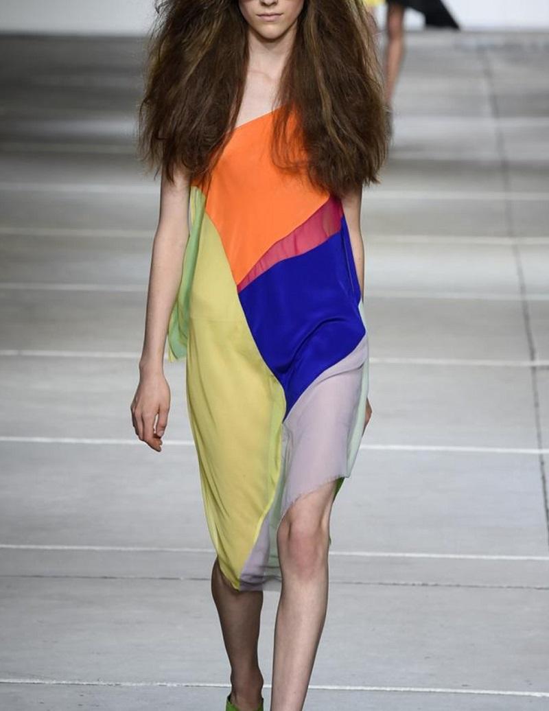 Marques'Almeida Patchwork silk scarf dress-