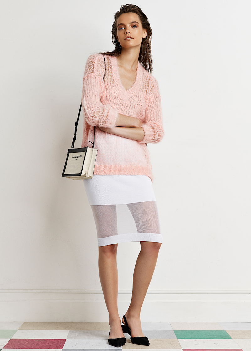 McQ Alexander McQueen Solid Sheer Skirt