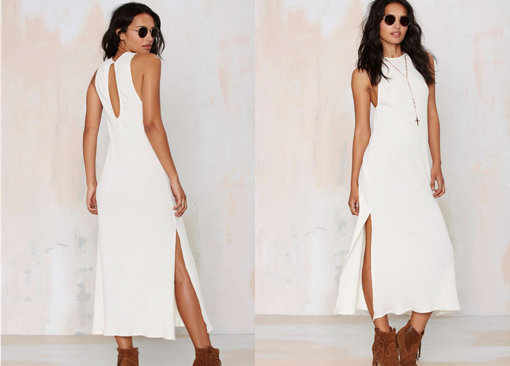 More than a Feelin' Ribbed Maxi Dress-2