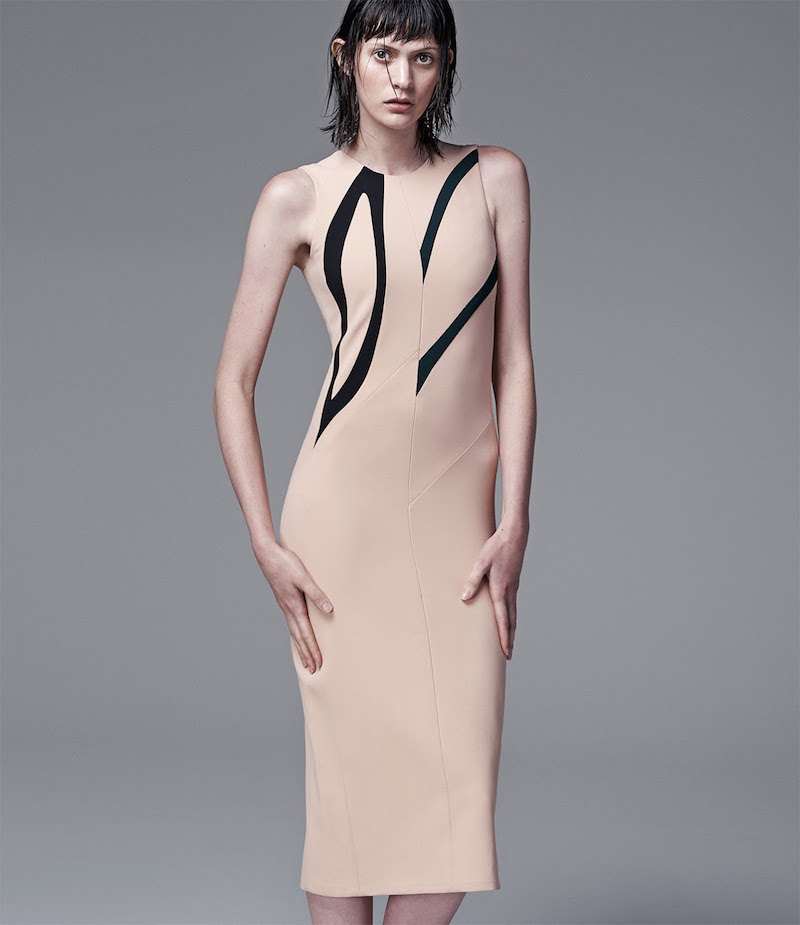 Narciso Rodriguez Abstract-Pattern Sheath Dress