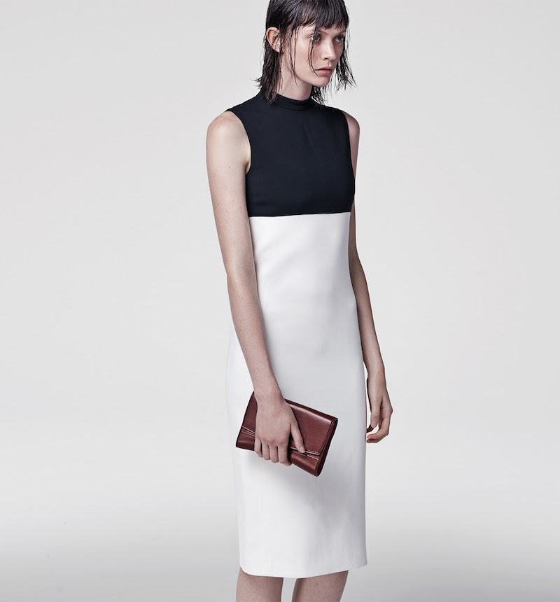 Narciso Rodriguez Two-Tone Cady Sheath Dress