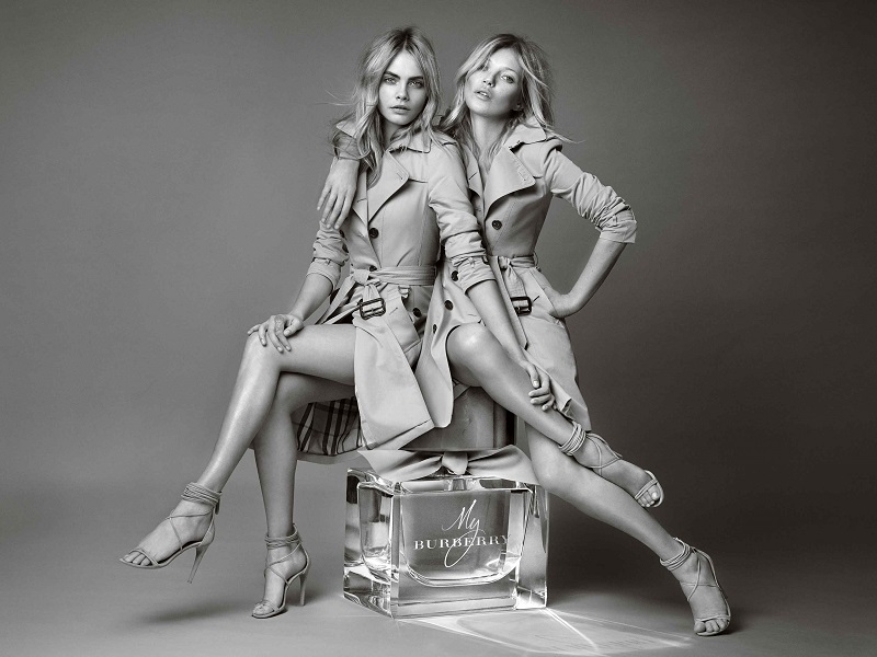 New 'My Burberry' Fragrance AD Campaign Feat. Kate Moss + Cara Delevingne
