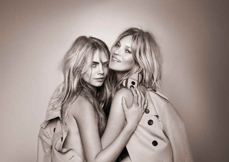 New 'My Burberry' Fragrance AD Campaign Feat. Kate Moss + Cara Delevingne1