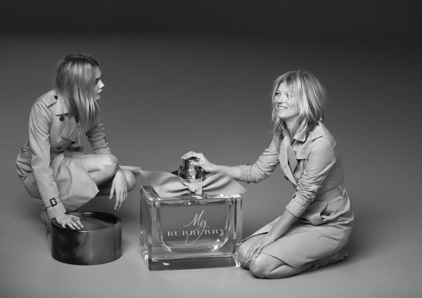 New 'My Burberry' Fragrance AD Campaign Feat. Kate Moss + Cara Delevingne2