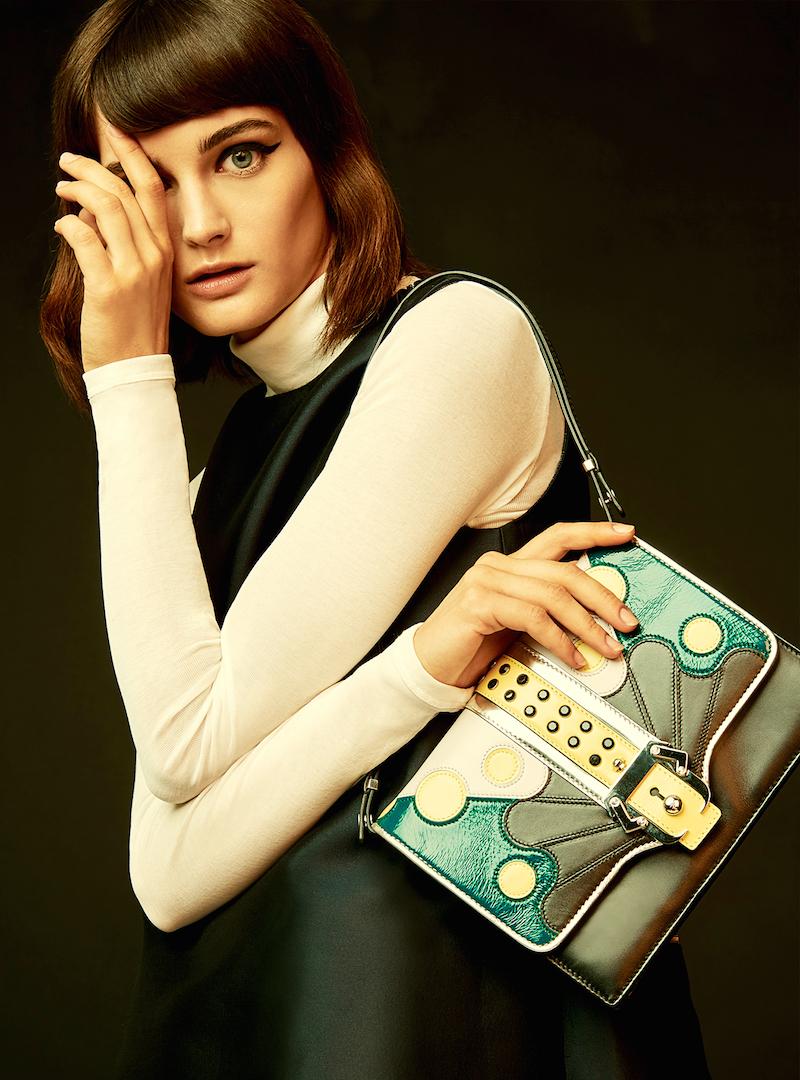 Paula Cademartori Calf Leather Petit Faye Abstract Bag