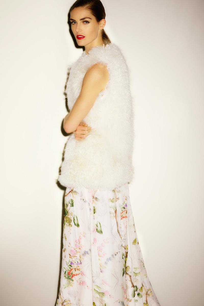 Philosophy di Lorenzo Serafini Floral Chiffon Deep-V Gown