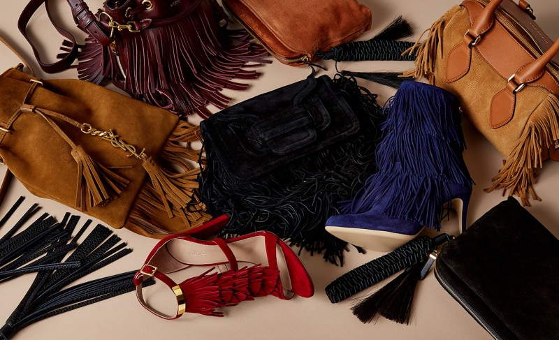 Pierre Hardy Fringed suede cross-body bag