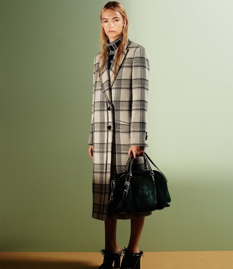 Proenza Schouler Bonded Plaid Long Coat