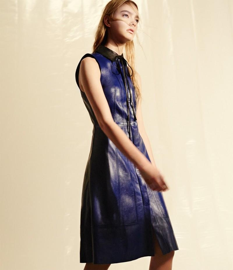 Proenza Schouler Leather Sleeveless Shirtdress